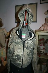 Cabelas soft lined Hoodie zip sweatshirt Camouflage Seclusion 3D Open Country  M