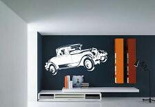 Wall Vinyl Sticker Room Decals Mural Design Old Car Vintage Auto Retro bo1600
