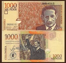 Colombia P450j, 1000 Peso, Jorge Eliecer Gaitán, see UV & w/m images UNC, 2006