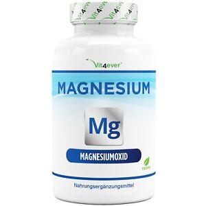 Magnesium MG 365 Kapseln 400mg Hochdosiert Knochen Zähne Vegan Vit4ever