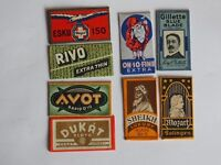 lot 8  different Safety Razor Blades double
