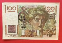 FRANCE Billet JEUNE PAYSAN 100 Francs 4/6/1953 TTB- Y.545 FAY F.28/37 PICK 128d