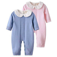 Newborn Infant Baby Girls Long Sleeve Fashion Ruffle Bodysuit Romper Clothes