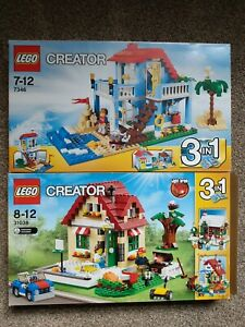 Lego Creator 3in1 X2 7346 Beach House 31038 Seasons Inc Light Brick