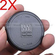 2x Rear Lens Cap Cover for Olympus M4/3 M.Zuiko Digital 14-150/2.8, 12/2