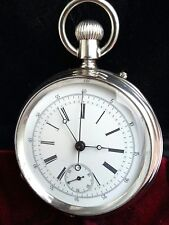 Longines 20 H chronograph solid silver  pocket watch made in 1878