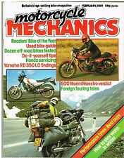 MCM Feb 1981 Morini 500 Yamaha RD350LC Honda CX500 CB250RS XL TS KL XT 250 500