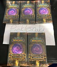 World Of Warcraft Tcg Dungeon Treasure Pack Lot Of 5 Shorestrider?