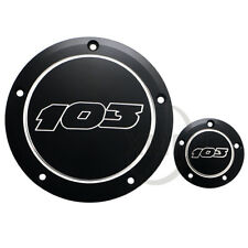 103 Black Derby Cover + Timing Timer Fit For Harley Twin Cam Electra Glide 99-15