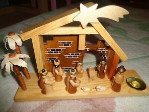 Small wooden nativity