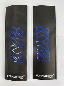 YAMAHA YZ YZF 125 250  450 - FORKSHRINK 360 - BLUE - FORK PROTECTION Fits KYB