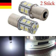 2 Stück 1156 BA15S R5W R10W 13x5050 SMD LED Standlicht Rücklicht Lampen Birne