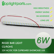 (5pcs) x 10inch 25CM Cupboard Showcase White LED Regid Strip Light Bar 12V AC DC