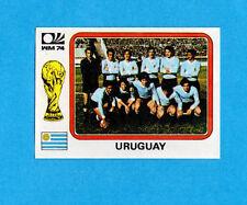 NUOVA//NEW N.216 URUGUAY URUGUAY FIGURINA CALCIATORI PANINI MUNCHEN 74
