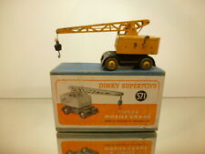 DINKY TOYS 571 COLES MOBILE CRANE - YELLOW + BLACK - GOOD CONDITION IN BOX