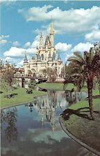 Walt Disney World postcard Cinderella Castle reflection # 01110203