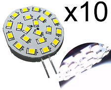 10 PCS, G4 21 LED Bulb 300 Lumen Cool White 3 Watt 10-30V DC Lamp for Marine, RV