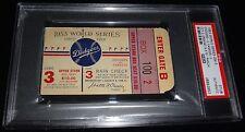 1953 WORLD SERIES GAME 3 TICKET BROOKLYN DODGERS CARL ERSKINE 14 K'S GAME PSA