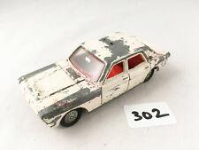DINKY TOYS #255 FORD ZODIAC POLICE PATROL CAR DIECAST WHITE 1967-71 PROJECT