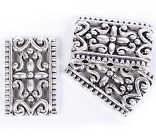 10pcs Antique Tibetan Silver 3-3 Hole Rectangle Shape Spacer Beads For Craft