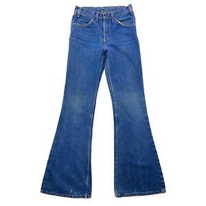 Vintage 70s Levis Orange Tab Big Bell Bottom jeans 684-0217 Womens 28x34