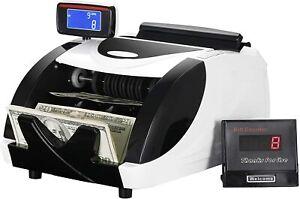 Contar Dinero Maquina De Contador Para Detección UV / MG Falsificación Billetes