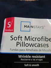 MAINSTAYS SOFT MICROFIBER PILLOWCASE - NAVY STANDARD