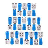 20 Blue Female Insulated Spade Wire Connector Electrical Crimp Terminal 14- J5H7