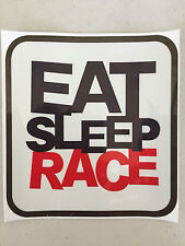 Eat Sleep Race Auto Car Van Truck Vinyl Graphics Decal Removeable Sticker