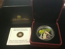 2011 Twenty Dollar Silver Proof Maple Leaf Crystal Raindrop No. 1057