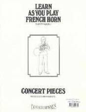 Learn As You Play French Horn Concert Pieces Piano Accompaniment teacher's book