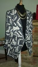 George aztec 53% cotton lightweight lagenlook very dark blue jacket sz 12