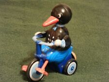 schylling tin toys wind-up duck on tricycle