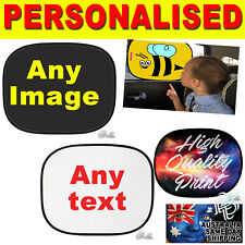 1 x Universal Car Sunshades Personalised Your Image Baby Kids Window Protection