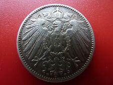 1908F Germany Silver 1 mark Toned Low Mintage Better Grade