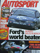 AUTOSPORT MAGAZINE 21 OCT 1993 MONDEO RULES IN MONZA TWO NEW F1 TEAMS FIRST LOND