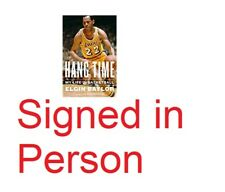SIGNED Hang Time My Life in Basketball by Elgin Baylor NBA Lakers, new