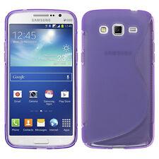 Funda Carcasa De Silicona PÚRPURA Samsung Galaxy Grand 2 G7100 G7102 G7105 G7106
