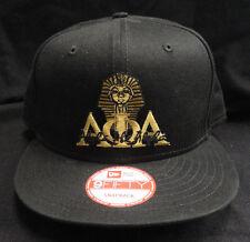 08af795e166 Alpha Phi Alpha Black New Era NE400 Snap Back with Old Gold Letters Sphinx  Patch