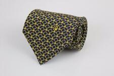 PIERRE CARDIN Silk Tie. Beautiful Blue w Gold Buckles