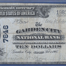 KS 1902 $10  ♚♚ GARDEN CITY, KANSAS ♚♚  PMG CH FINE 15   VERY RARE!!!
