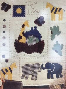 """Bucilla's Patchworks Applique 13""""x16"""" Quilt Project Noah's Ark 41142 Two by Two"""