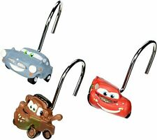 CARS SHOWER CURTAIN HOOKS Disney Pixar Set of 12 RN#18389 MIP