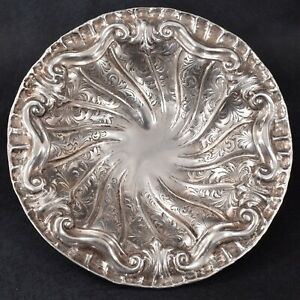 EXQUISITE Antique 800 Silver REPOUSSE BOWL 361 Gram ORNATE Etch ITALY Rococo 2