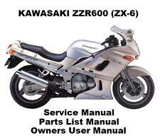 kawasaki zx6r owners manual in vehicle parts accessories ebay rh ebay ie kawasaki zzr 1400 service manual ZZR 1400 Racing