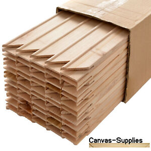 Canvas Stretcher Bars, Canvas Frames, Pine Wood 18mm & 38mm Thick - Sold By Box
