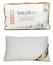 Pack of 4 Goose Feather & Down Box Pillows 15% DOWN Ideal For Side,Back Sleepers