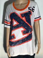 Auburn Tigers NCAA SEC College Team Colors Big Logo Womens Small S White T-shirt