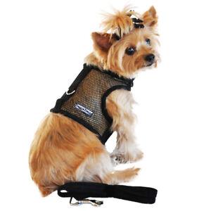 Doggie Design Black Cool Mesh No Choke Dog Harness