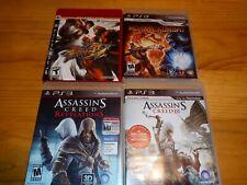 PS3 Games Bundle Street FighterIV, Mortal Kombat, Assassin's Creed 3 &...